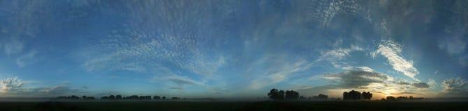Blue panorama before sunrise Royalty Free Stock Photography