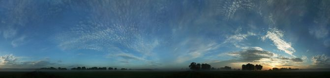 Blue panorama before sunrise Stock Image