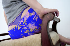 Blue panties Stock Images