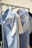 Blue pants after washing. Royalty Free Stock Images