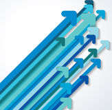 Blue paper arrows up abstract background Stock Photo