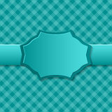 Blue paper background with badge in the center. Royalty Free Stock Photo
