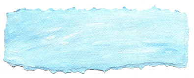 Blue paper background with torn edge Royalty Free Stock Photos