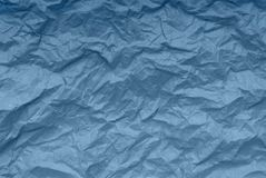 Blue paper backgrounds, creative texture, crumpled packaging pap Stock Images