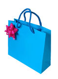Blue Paper Bag Stock Images