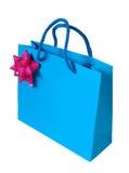 Blue Paper Bag Stock Images
