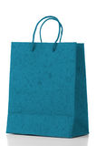 Blue  paper bag Stock Photography