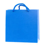 Blue paper bag Royalty Free Stock Photo