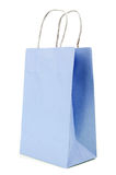 Blue Paper bag on white background Stock Images