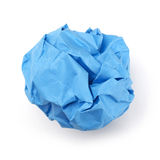 Blue paper ball Royalty Free Stock Photography