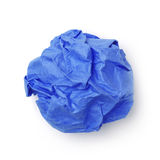 Blue paper ball Stock Images