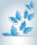 Blue paper butterflies Royalty Free Stock Photography