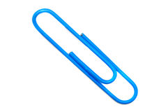 Blue paper clips Royalty Free Stock Photo