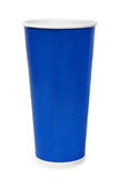Blue paper cup Royalty Free Stock Photos