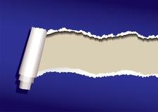 Blue paper curl Stock Photos
