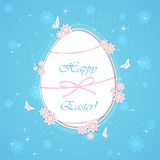 Blue paper Easter egg Stock Photo