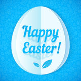 Blue paper Easter egg, vector illustration Royalty Free Stock Photography