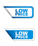 Blue paper  element sticker low price in two variant Stock Photography