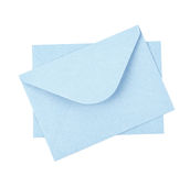 Blue paper envelope isolated Royalty Free Stock Photography