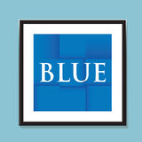 Blue paper folded background Stock Photos