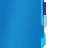 Blue paper folder files Stock Image