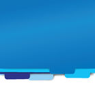 Blue paper folder files Royalty Free Stock Photos