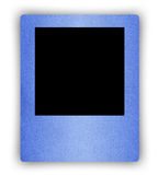 Blue paper frame on white Stock Photography