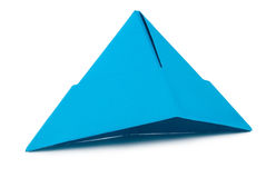 Blue paper hat stock image