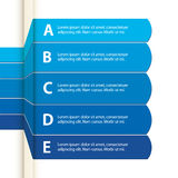 Blue paper infographic Royalty Free Stock Photos