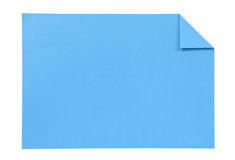 Blue paper isolated on white Royalty Free Stock Photo