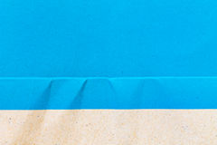 Blue Paper Notepad  on blue background Stock Images