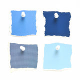 Blue Paper Notes Royalty Free Stock Image