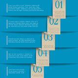 Blue paper numbered banners Stock Photos