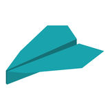Blue paper plane origami funny. Illustration eps 10 Stock Photo