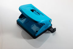 blue paper punch Stock Photo