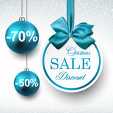 Blue paper round sale labels. Royalty Free Stock Image