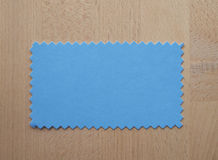 Blue paper sample Stock Image