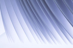 Blue paper sheets abstract. Rhythm of paper sheert edges in blue Stock Photography