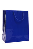 Blue paper shopping or carrier bag Royalty Free Stock Photos
