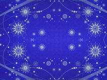 Blue paper with snowflakes royalty free stock photography