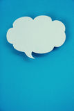 Blue paper speech bubbles Royalty Free Stock Images