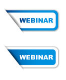 Blue  paper sticker webinar two variant Royalty Free Stock Image
