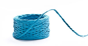 Blue paper string Stock Photo