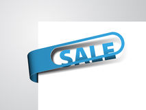 Blue paper tag Royalty Free Stock Images