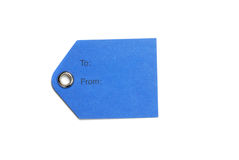 Blue Paper Tags Royalty Free Stock Images