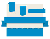 Blue paper tags - Vector ribbons Stock Photos
