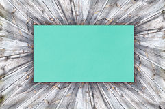 Blue Paper on wood Stock Photos