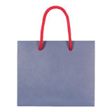 Blue paperboard bag Stock Photography