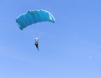 Blue parachute Stock Photos