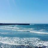 Blue paradise. El Medano, Islas Canarias stock images